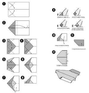 给小孩折纸飞机