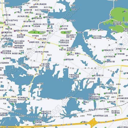 武汉洪山区地图.jpg; 武汉城区地图;