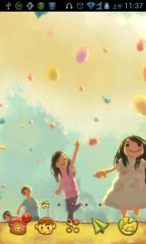 这是一款可爱的主题,充满童趣的主题,写满回忆的主题.