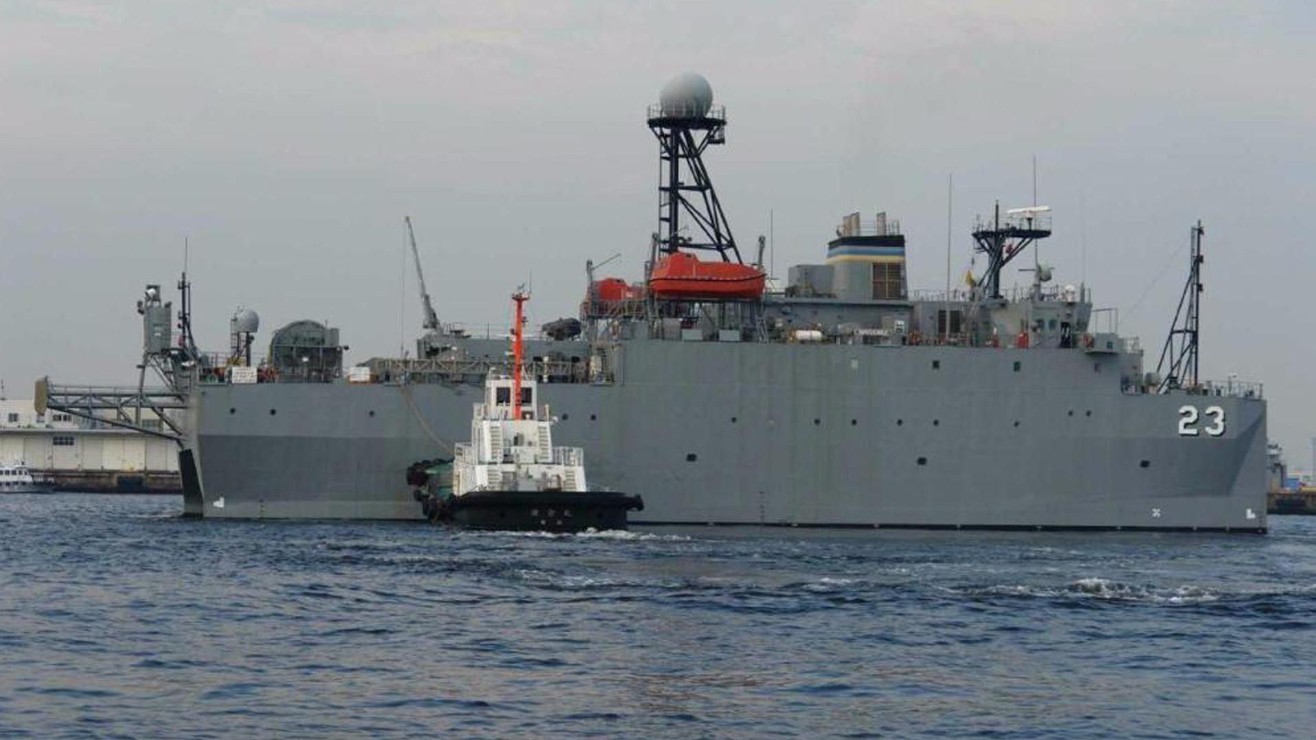 美军侦察船赖在南海两周 对解放军潜艇威胁很大?