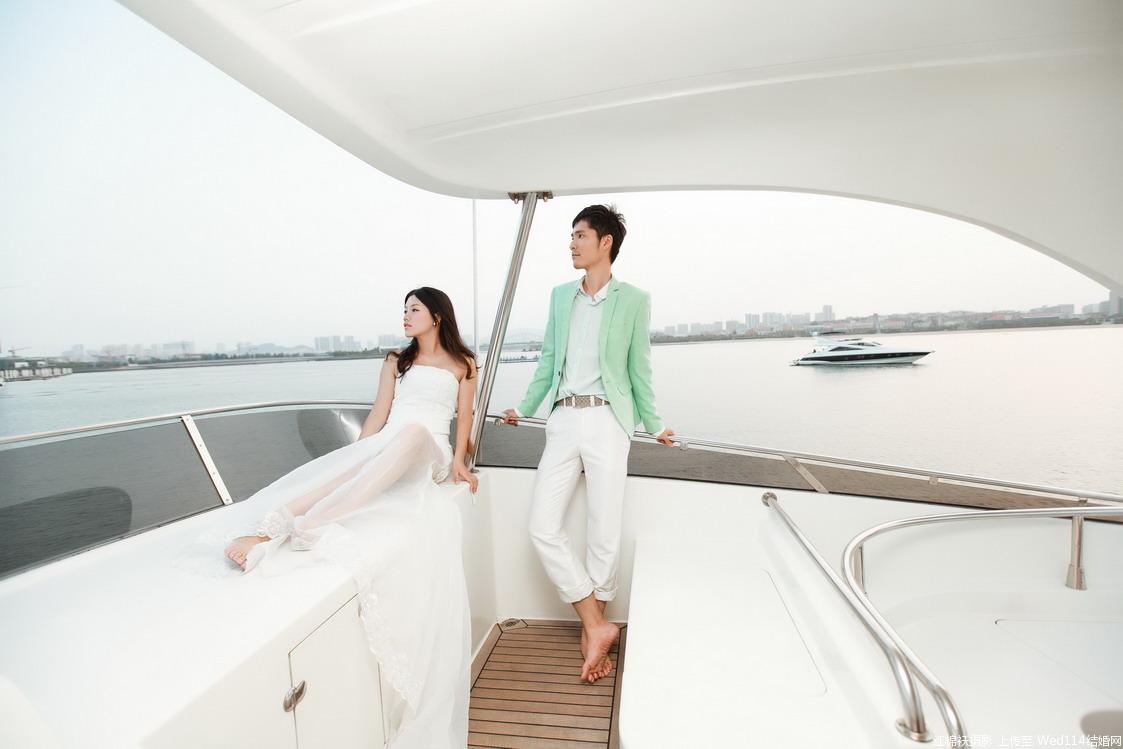 游艇婚纱摄影
