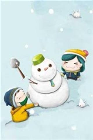 圣诞雪人壁纸_360手机助手