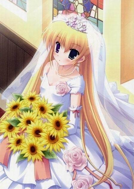 动漫人物婚纱少女图片 动漫人物婚纱画法图片
