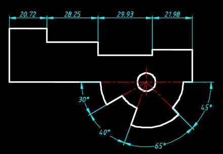 cad连续标注尺寸_360问答cad2007多段线输入极坐标用图片