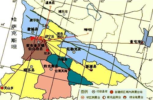 (图)伊犁地区行政图