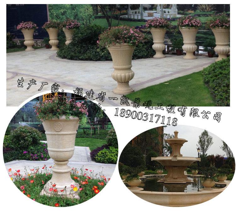 花钵,花盆的样式设计多种多样,可以是圆形,半圆形,方形,多边形