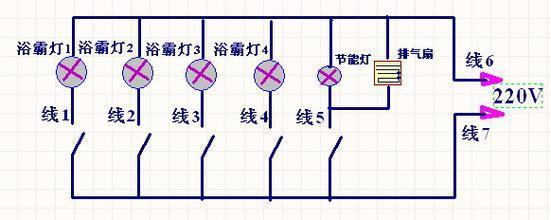 浴霸内部电路结构图