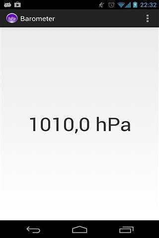 气压计/高度计应用   显示空气压力图片