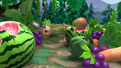 熊出没之春日对对碰,森林里来了一个大的怪物,吉吉的菜园都被毁了