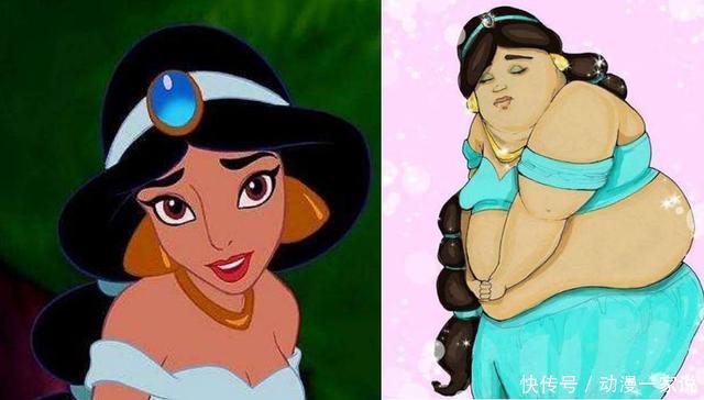 当迪士尼公主变胖后,白雪公主彻底毁了!贝儿公主倒更有韵味啦