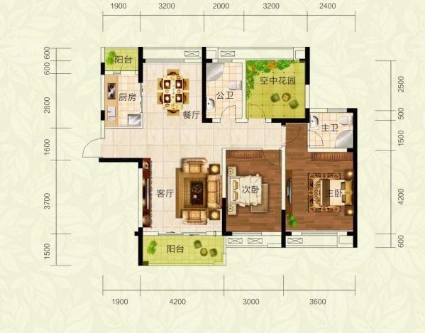 一层四室一厅农村平房屋设计图展示