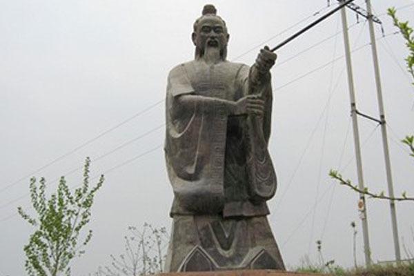 姜太公雕塑图片