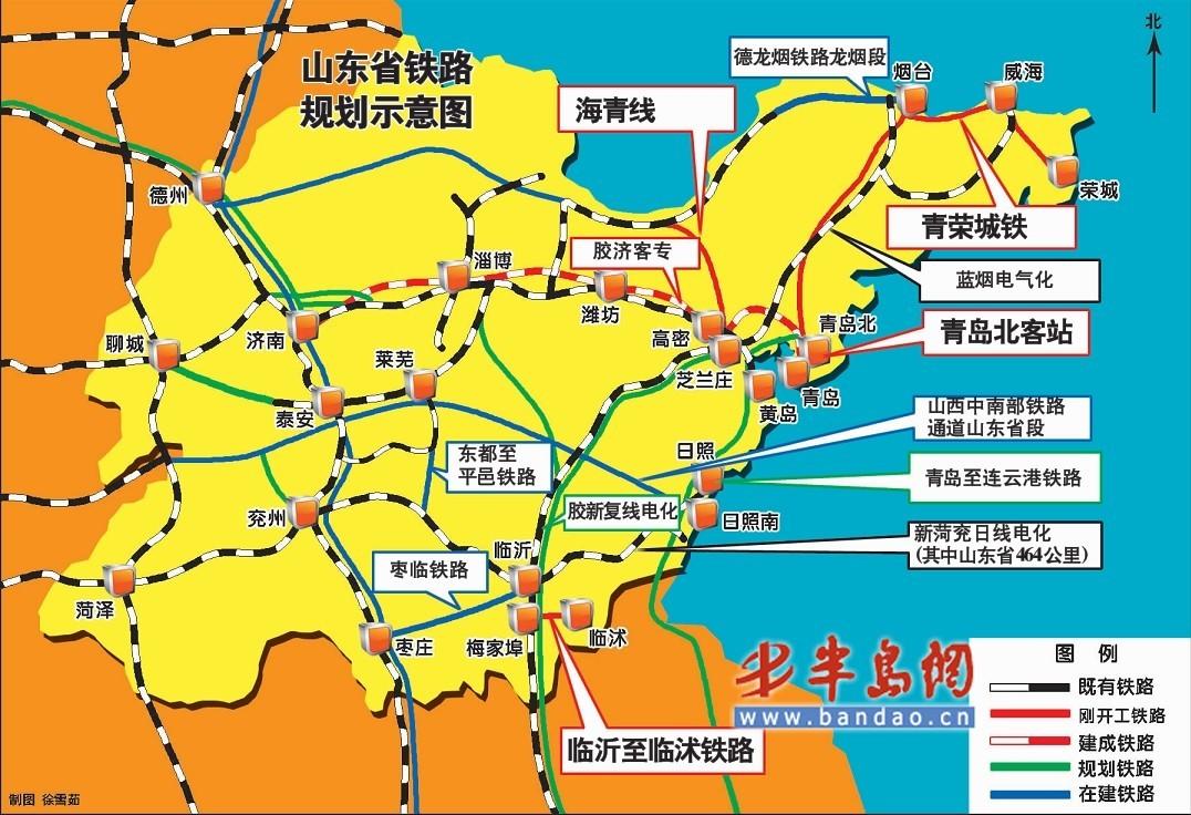 山东蓬青岛地图