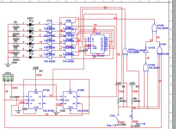 multisim led灯只有一个在闪烁,其他的一直亮,没得功能,求纠错