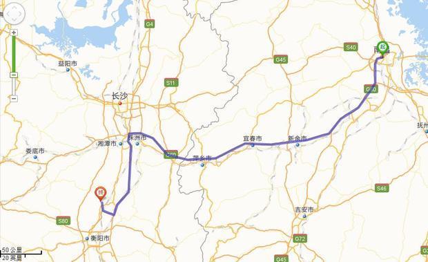 从南昌市到南岳衡山景区全程约475公里左右.