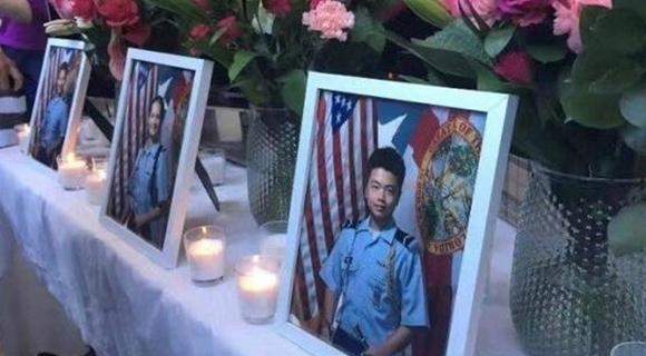 美枪击案华裔少年为救人遇难 获全军礼安葬