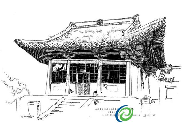 中国古建单线手绘