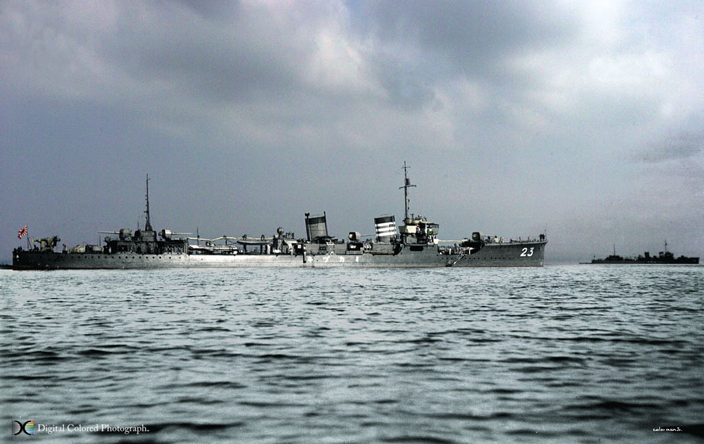 12.21竣工.1941.12.11在进攻威克岛时,深水炸弹被引爆而沉没.