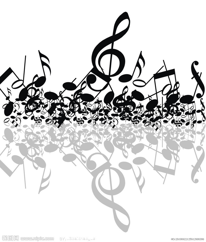 唱歌音符简笔画