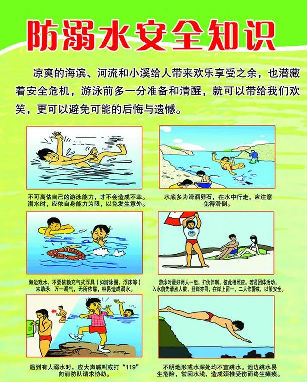 防溺水安全知识宣传画