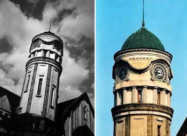 整座建筑的风格是巴洛克式,钟楼立面的螺旋长窗,售票厅门楣上方的拱形