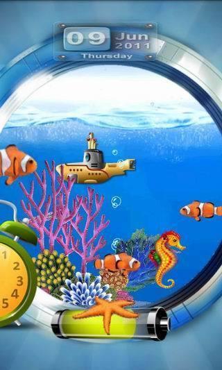 潜艇观景海底世界动态壁纸(来自:)