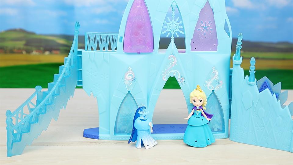 冰雪奇缘 艾莎女王 冰雪城堡 迪士尼 迷你王国 玩具拆箱