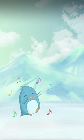可爱的小企鹅能够做出各种动作,一会吃鱼,看起来很饿的样子.