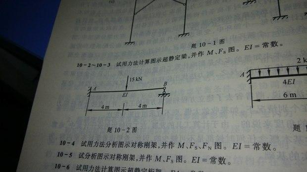 试用力法计算图示超静定梁