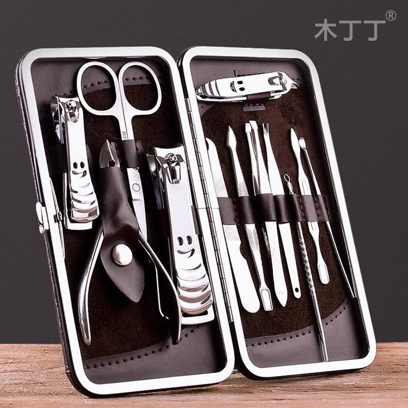 【不锈钢修甲刀】12件套指甲钳剪修甲指甲刀套装