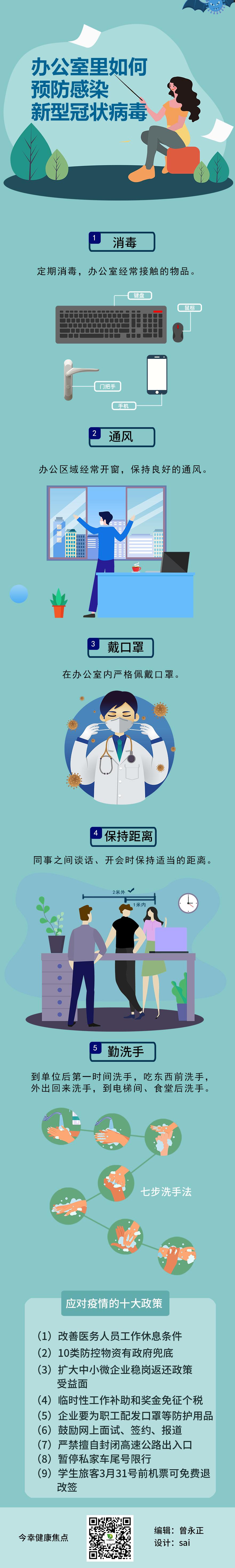 办公室里如何预防感染新型冠状病毒?