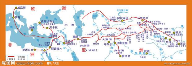 古丝绸之路路线图