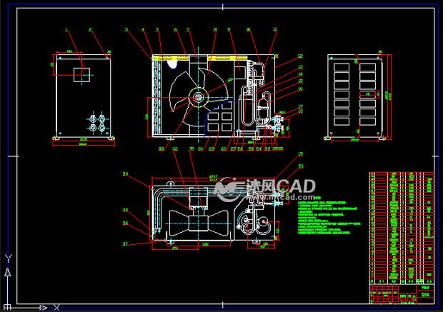 设计分享 毕业设计cad图框 > 美国打包机cad机构图纸(毕业  美国打包