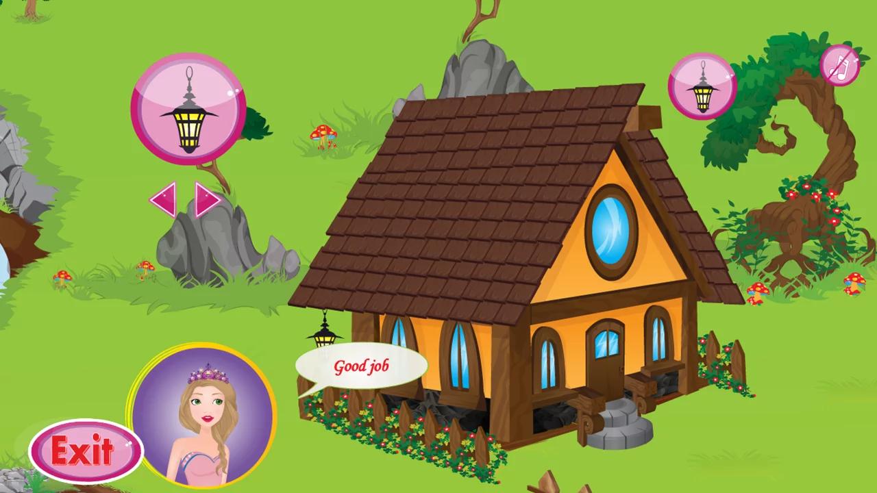 可爱卡通公主城堡
