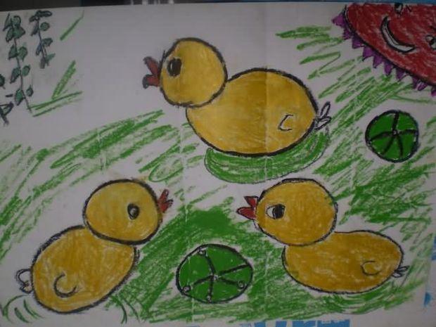 小鸭的脚简笔画