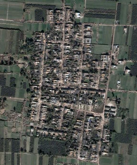 咬马村卫星地图