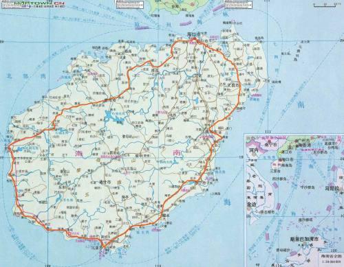 海南省地图_好搜百科
