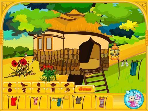 幼儿园森林彩色简笔画