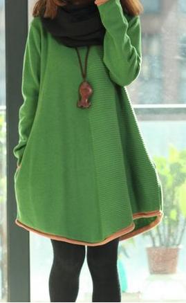 绿色毛衣搭什么颜色款式的外套好看?