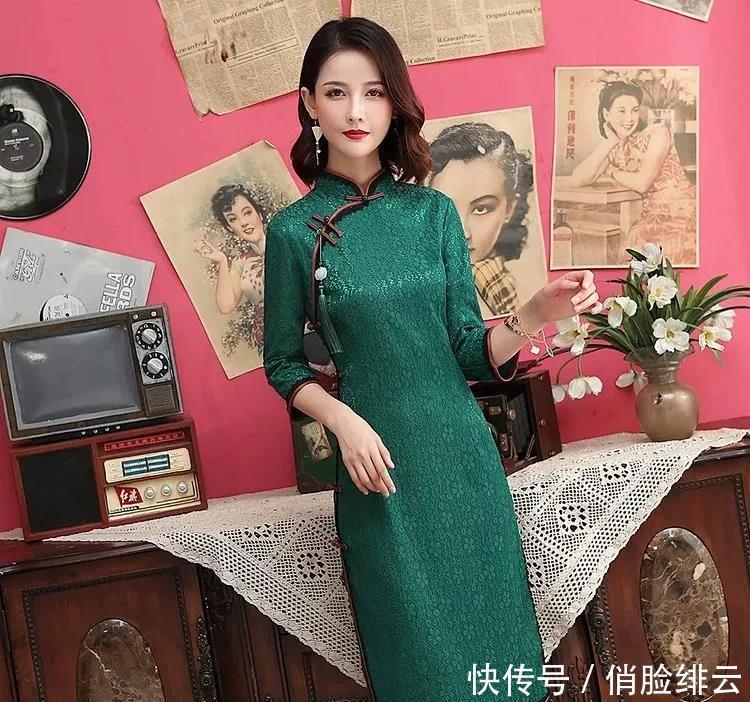 流苏中国风旗袍,这样穿时尚又减龄!