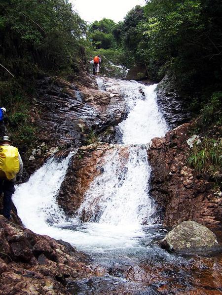 山水从小溪缓缓流向石鼓水库
