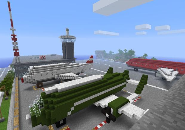 我的世界飞机设计图怎么做