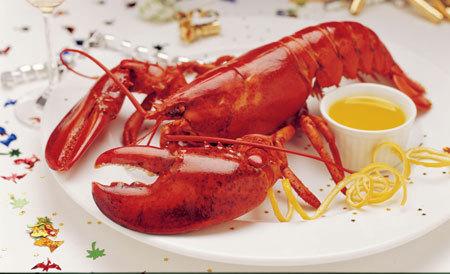 龙虾手绘马克笔