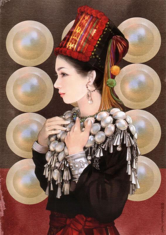 少数民族美女图之基诺族、京族、景颇族、柯尔克孜族