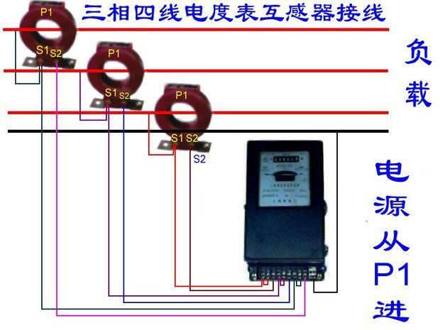 三相四线电子式电能表与互感器如何接线能否提供实图