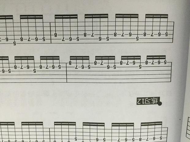 识别吉他乐谱