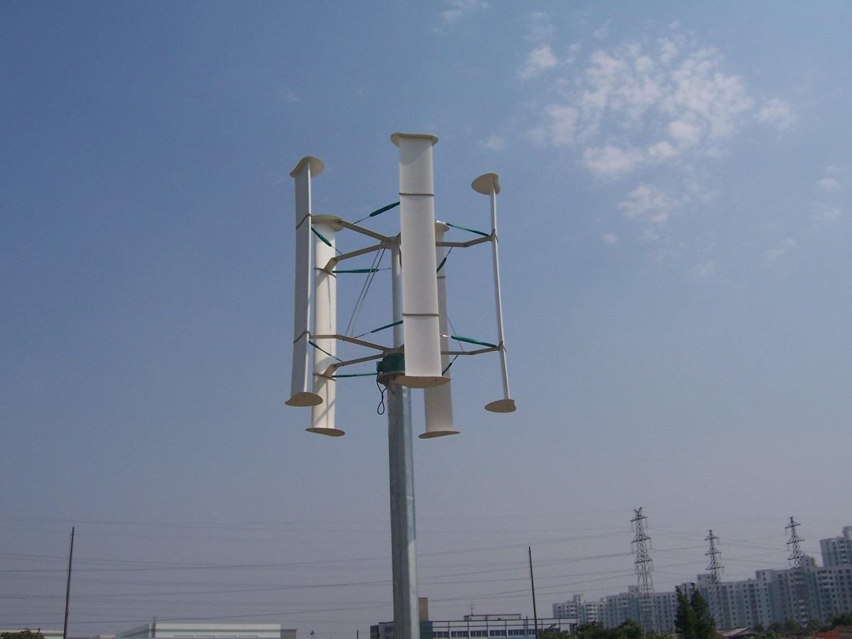 结构复杂等缺点,这都制约了垂直轴风力发电机的应用