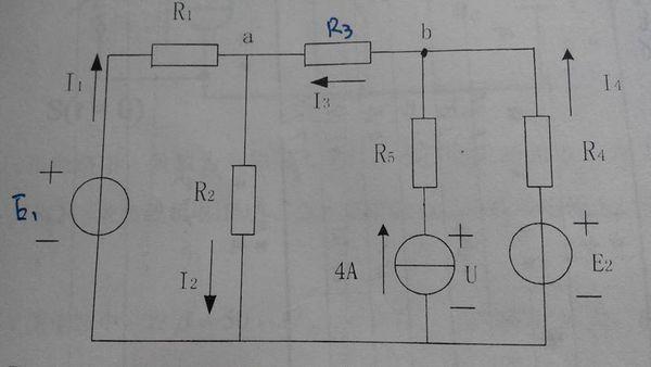 已知e1=10v,e2=6v,r1=r2=1Ω,r2=r4=r5=2Ω,求各支路电流及各电源功率