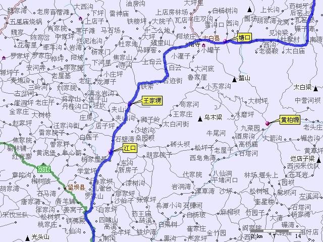 陕西省眉县地图