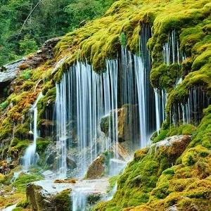 风景秀丽的瀑布壁纸_360手机助手
